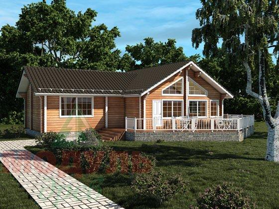 Дом из бруса «Апрель». Проект деревянного брусового дома.