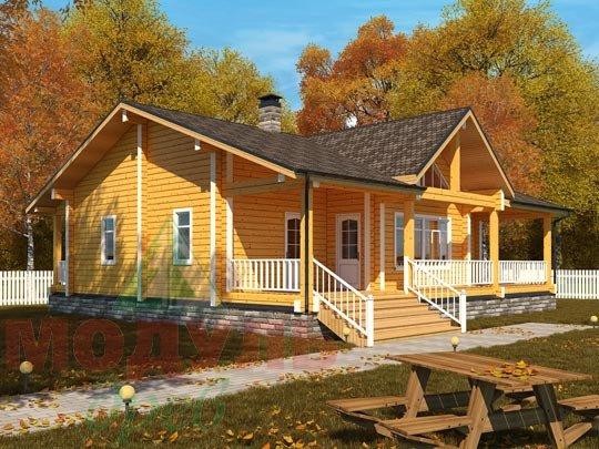 Дом из бруса «Илес». Проект деревянного брусового дома.