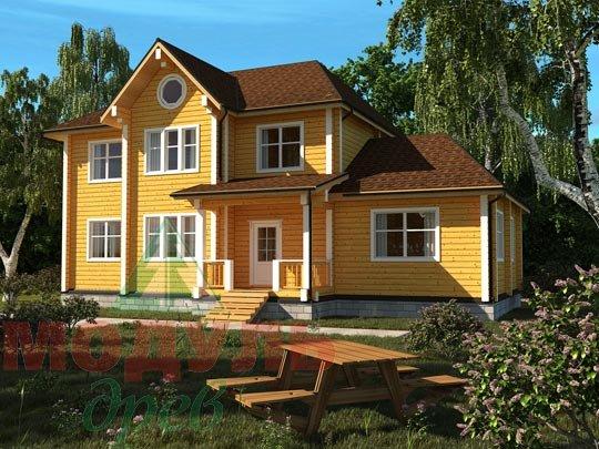 Дом из бруса «Ладино».