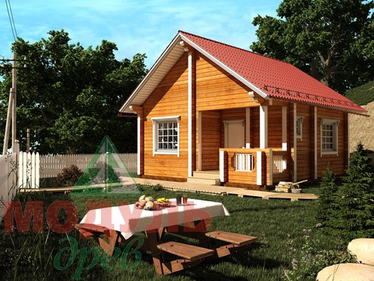 Дом из бруса «Лето»
