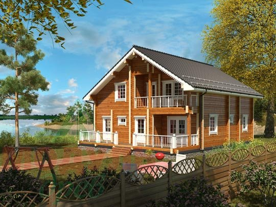 Дом из бруса «Переславль».