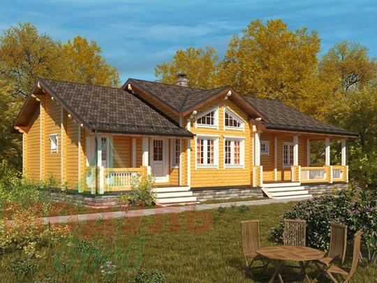 Дом из бруса «Пятигорск».