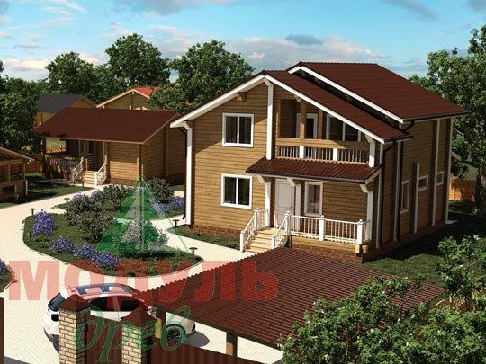 Дом из бруса «Виктория». Проект деревянного брусового дома.
