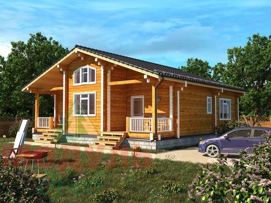 Дом из бруса «Заречный» Проект деревянного дома.