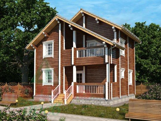 Дом из бруса «Жуков». Проект деревянного брусового дома.