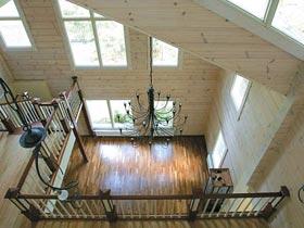 Внутренние интерьеры деревянных домов.