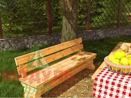 Деревянная садовая скамья 2090х570